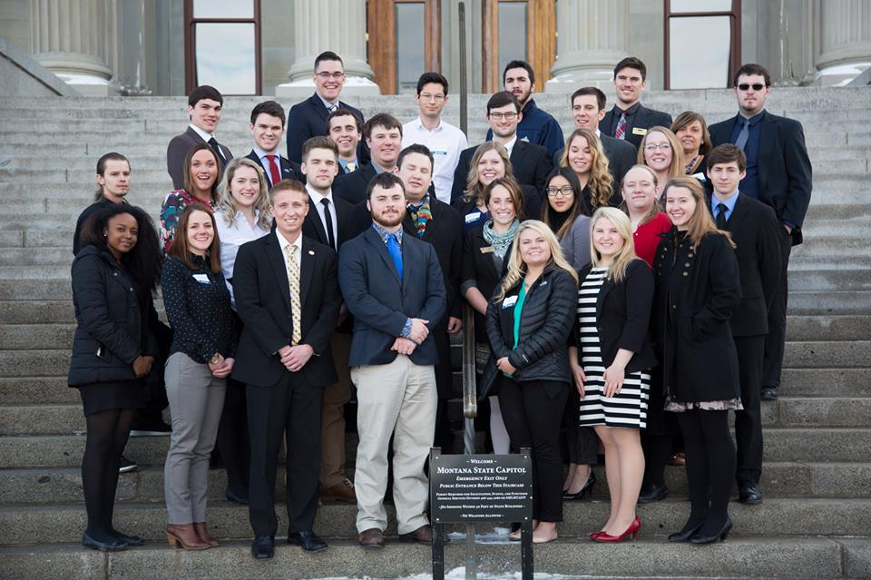 Students at the Capitol and the Alumni Advocate Network on task for higher education in Montana