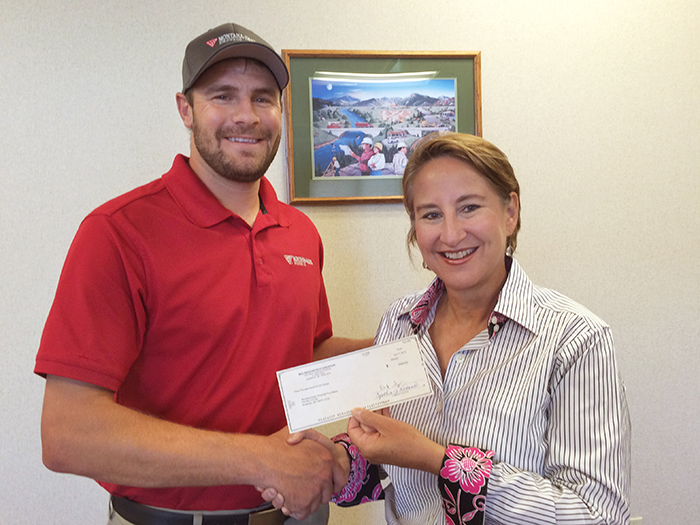 =Montana-Dakota Utilities Resources Foundation presents a $3,000 check.